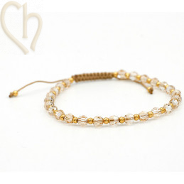 Kit bracelet steel and Crystal Swarovski Golden Shadow