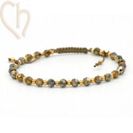 Kit bracelet steel and Crystal Swarovski Khaki