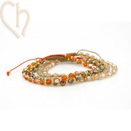 4 Kits bracelet steel and...