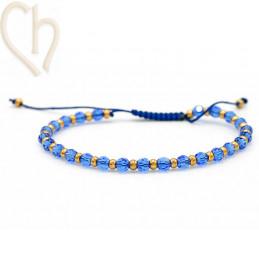 Kit bracelet steel and Crystal Swarovski Saphire