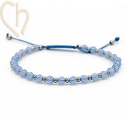 Kit armbandje met Staal en Swarovski Crystal Air Blue Opal