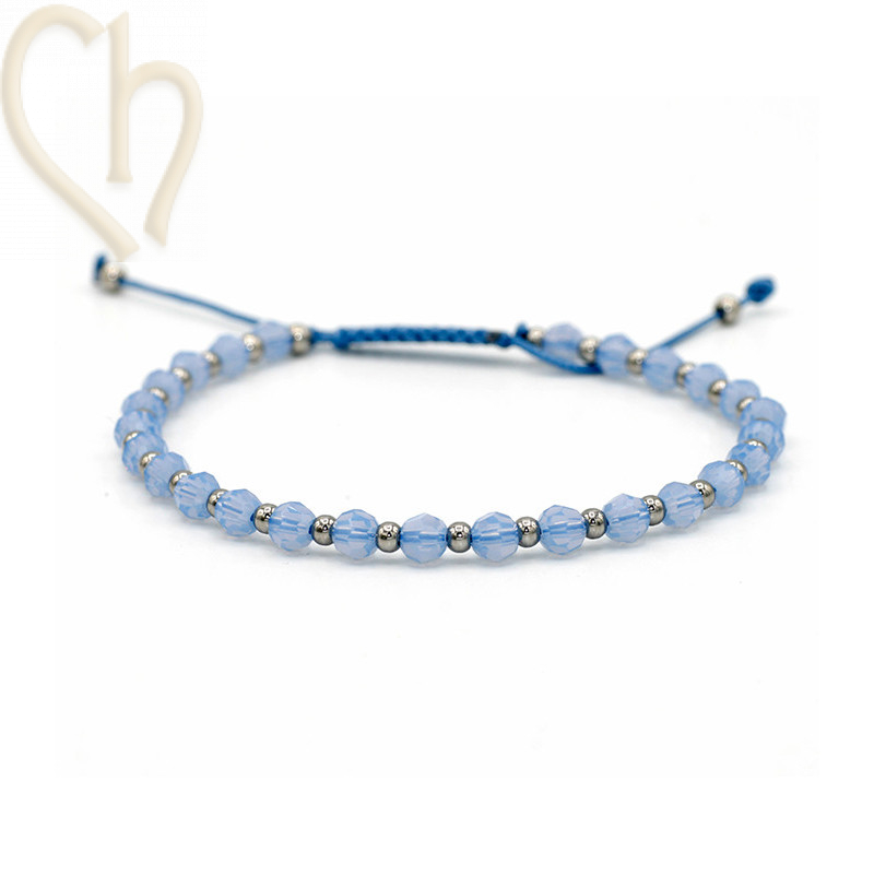 Kit bracelet steel and Crystal Swarovski Air Blue Opal