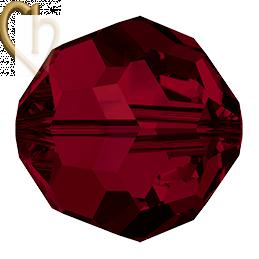 Preciosa Crystal Round Bead 6mm Siam