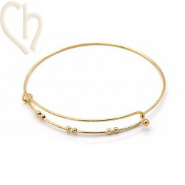 Armband Staal Charm's style 3 Gold Plated