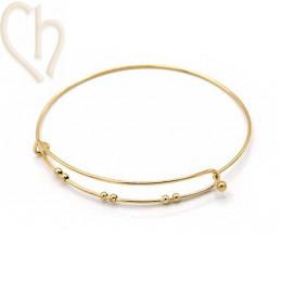 Bracelet Acier Charm's style Gold Plated