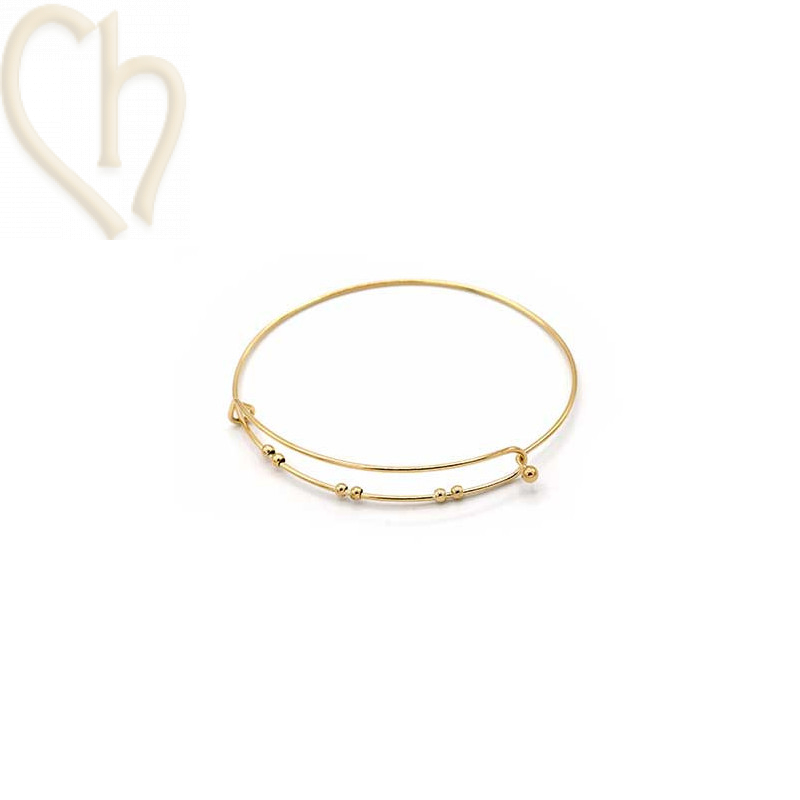 Bracelet Steel Charm's style Gold Plated