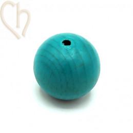 Houten bol 30mm turquoise
