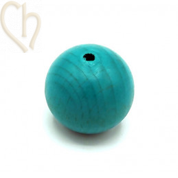 Wood ball 30mm Turquoise