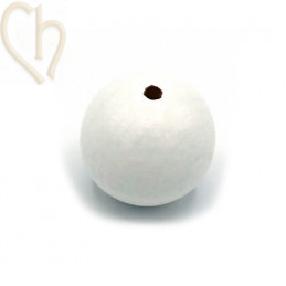 Wood ball 30mm White
