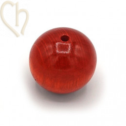 Wood ball 30mm Orange