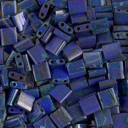 Miyuki Tila bead Opaque Cobalt Picasso