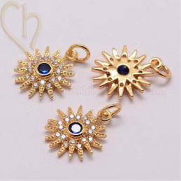 Pendant star Gold Plated 20mm