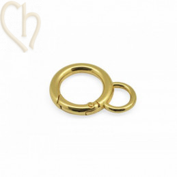 Clasp keyring clip 42x30x5mm Gold Plated