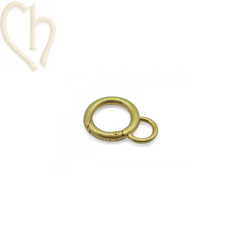 Clasp keyring clip 42x30x5mm Gold Vintage