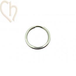Double anneau plat acier 28mm pour porte clé