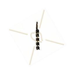 boucles d'oreille pour 5 strass SS19