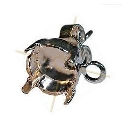 oorbellen stekers voor 1 strass SS39 - 8mm