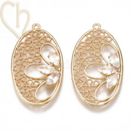 Hangertje ovaal Gold Plated...
