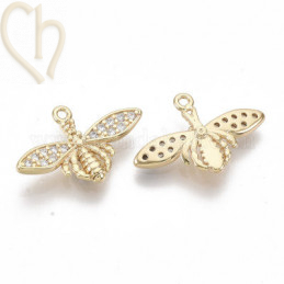 Pendant bee 20mm Gold...