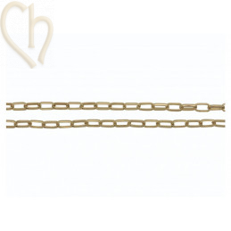 Chain oval 8.5x5x1.6mm rhodium / gold plated