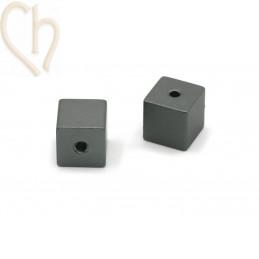Aluminium kubus 8mm kraal...