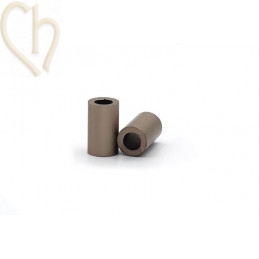 Aluminium anodized cilinder bead 6mm brons