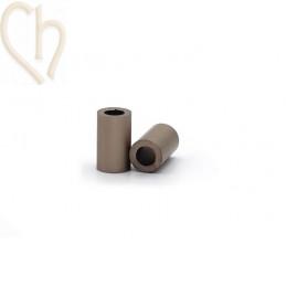 Aluminium cilinder 6mm kraal brons