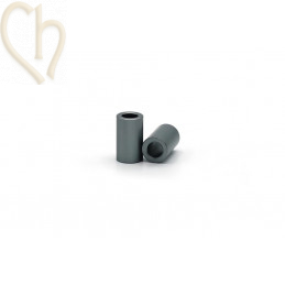 Aluminium cilinder 6mm kraal donkergrijs