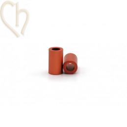 Aluminium anodized cilinder bead 6mm Copper