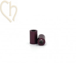Aluminium anodized cilinder bead 6mm Purple