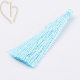 kwastje polyester 70mm lichtblauw