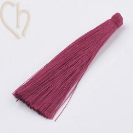 kwastje polyester 70mm rood