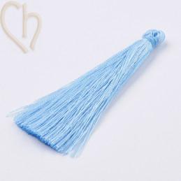 kwastje polyester 70mm blauw