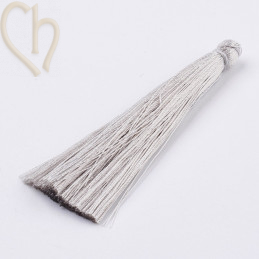 Tassel polyester 70mm Grey