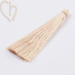 Tassel polyester 70mm Cream