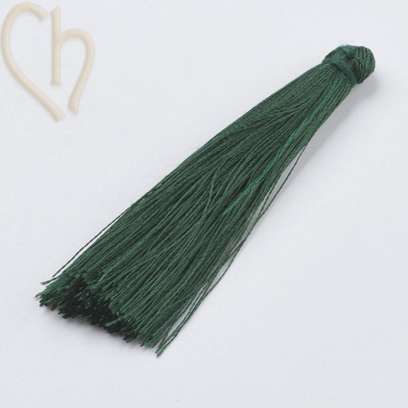 Tassel polyester 70mm Darkgreen