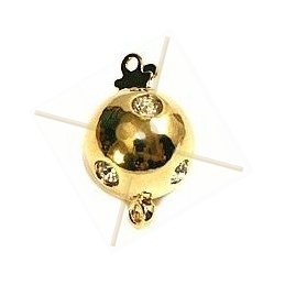 clasp 1-row ball 12mm with strass