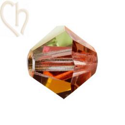 Preciosa Crystal Rondelle bead 4mm Marea