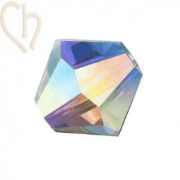 Preciosa Crystal Rondelle Bead 4mm Cristal AB2x