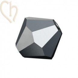 Preciosa Crystal Rondelle bead 3mm Jet Half Hematite