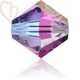 Preciosa Crystal Rondelle Bead 4mm Amethist AB