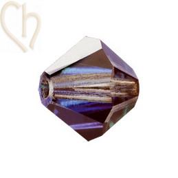 Preciosa Crystal Rondelle Bead 4mm Heliotrope