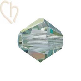 Preciosa Crystal Rondelle Bead 4mm Veridian