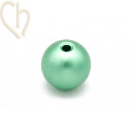 Perle ronde aluminium anodize 12mm Electric Green