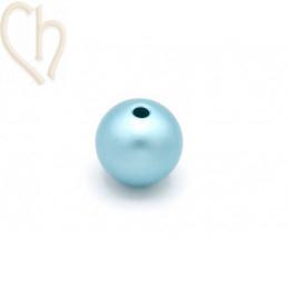 Aluminium anodized round bead 12mm Light Bleu