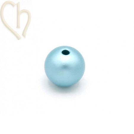 "18/"" Véritable 12 mm Naturel Rond Bleu Collier de perles 14k #f2994!"