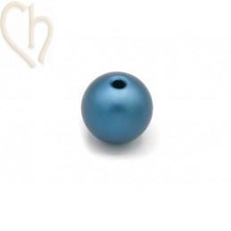 Aluminium anodized round bead 12mm Blue