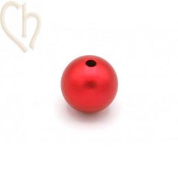 Aluminium anodized round bead 12mm Red