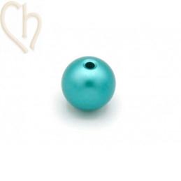 Aluminium anodized round bead 12mm Turquoise