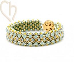 Kit armband Gaudy Groen Gold